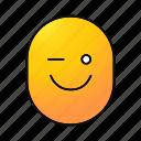 cheerful, emoji, emoticon, smiley, smiling, winking, happy