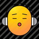 earspeakers, emoji, emoticon, headphones, listen, music, smiley icon