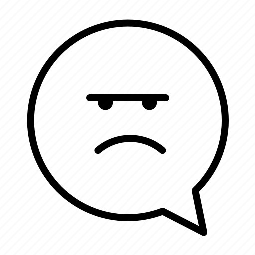 angry, emoji, face, unhappy icon