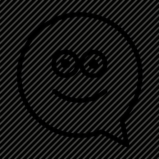 emoji, face, geek, glasses, smiley icon