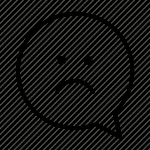 angry, emoji, face, sad, smiley icon
