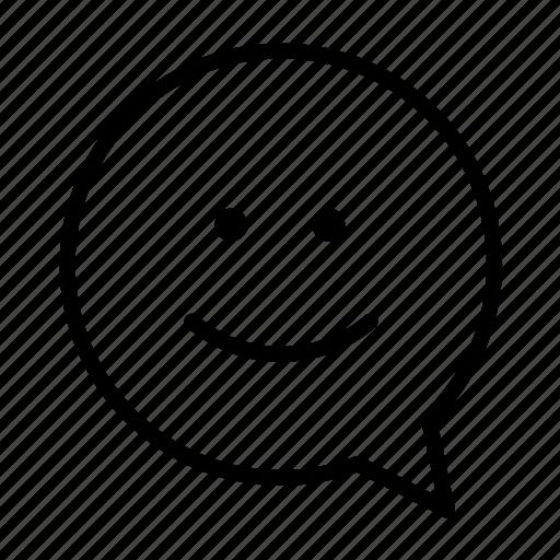 face, happy, small, smile icon