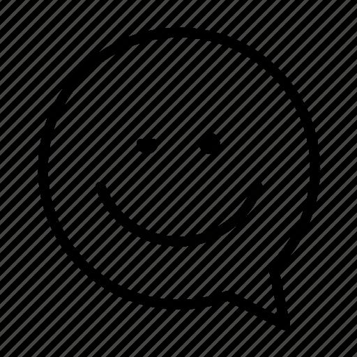 emoji, face, smiley, wink icon