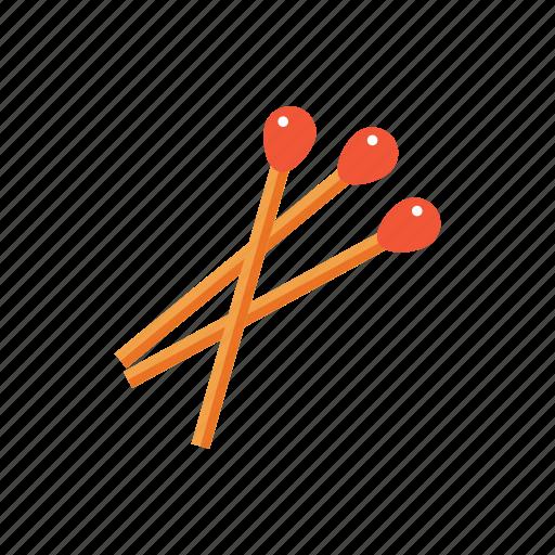 flammable, light wood, matches, matchstick, smoke icon