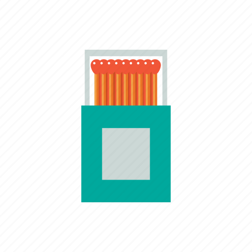 flammable, matchbox, matches, smoke icon