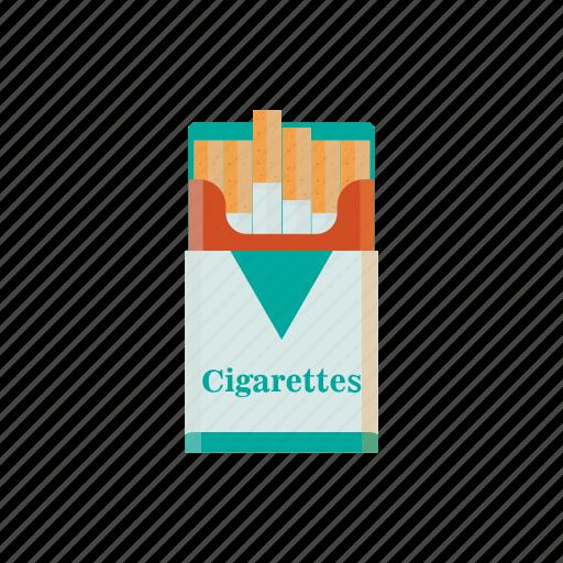cigarettes, nicotine, pack of cigarettes, smoke, tobacco icon