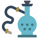 hooka, pipe, smoking, vaping icon