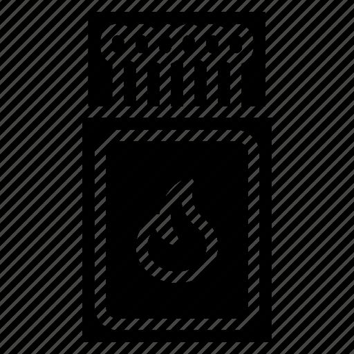 and, box, match, smoking, vaping icon