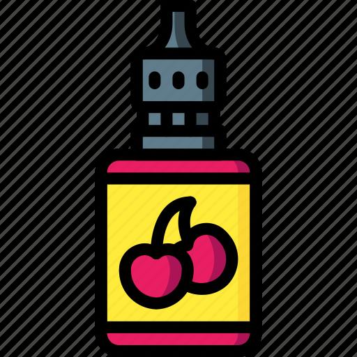 and, cherry, juice, smoking, ultra, vape, vaping icon