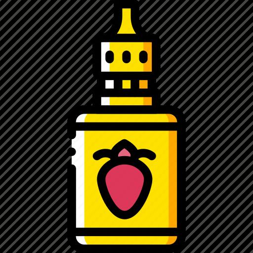 and, juice, smoking, strawberry, vape, vaping, yellow icon