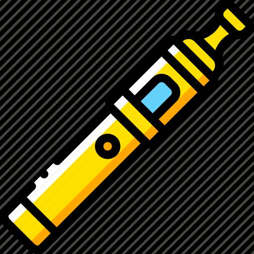 and, pen, smoking, vape, vaping, yellow icon