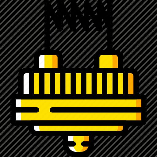 and, element, smoking, vape, vaping, yellow icon