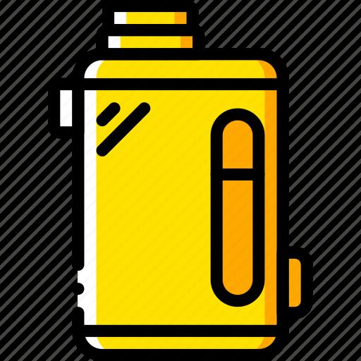 and, box, mod, smoking, vaping, yellow icon