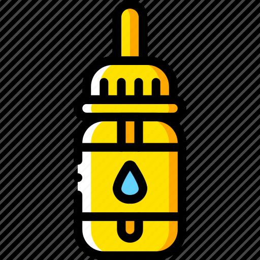 nic, pippet, shot, smoking, vaping, yellow icon