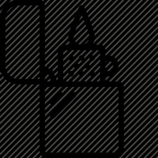 ligher, petrol, smoking, vaping, zippo icon