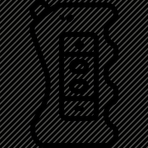 box, mod, outline, smoking, vaping icon
