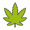 cannabis, drugs, leaf, marihuana, marijuana, plant, weed icon