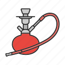 accessory, hooka, hookah, smoke, smoking, tobacco, vaporizing icon
