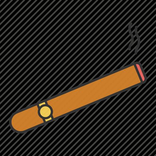burning, cigar, cigaret, cigarette, smoke, smoking, tobacco icon