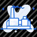 thermal energy, geothermal industry, geothermal factory, geothermal power, geothermal energy icon
