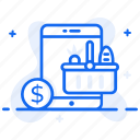buy online, ecommerce, eshopping, grocery shopping, online shopping icon