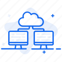 cloud computing, cloud connection, cloud network, cloud sharing, devices connected icon