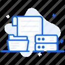 data information, database, dataserver, datasource, documents icon