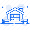 big data, data mart, data repository, data warehouse, datacenter, depository home icon