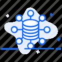 big data, data collection, data network, database, dataserver icon