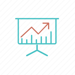 analytics, business, chart, demo, diagram, finance, graph, presentation, statistics, stock icon