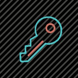 key, open, safe, safety, secutiry icon