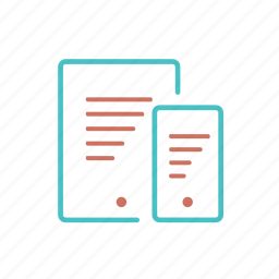 document, mobile, read, text icon