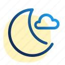 cluod, luna, moon, space, weather, луна icon