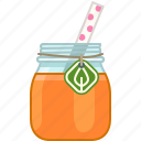 carrot, drink, fitness, health, smoothie, vitamins, yumminky icon