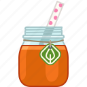 drink, fitness, health, orange, smoothie, vitamins, yumminky icon