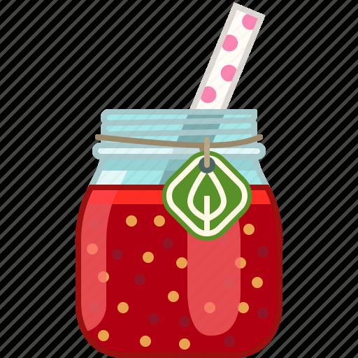 drink, fitness, health, smoothie, strawberry, vitamins, yumminky icon
