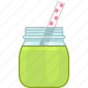 drink, fitness, green, health, smoothie, vitamins, yumminky icon