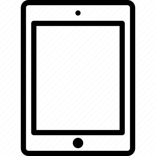 device, ipad, mobile, tablet, touchscreen icon
