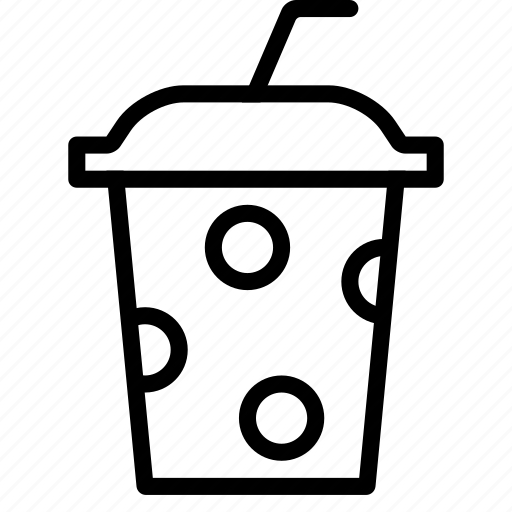Coffee, cup, drink, juice, paper, straw, takeaway icon - Download on Iconfinder