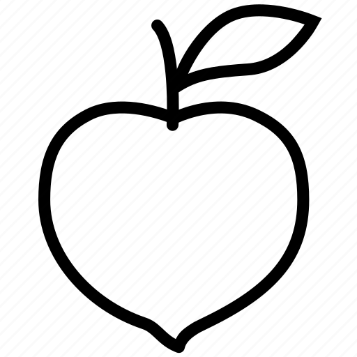 food, fruit, peach, plant, tree icon