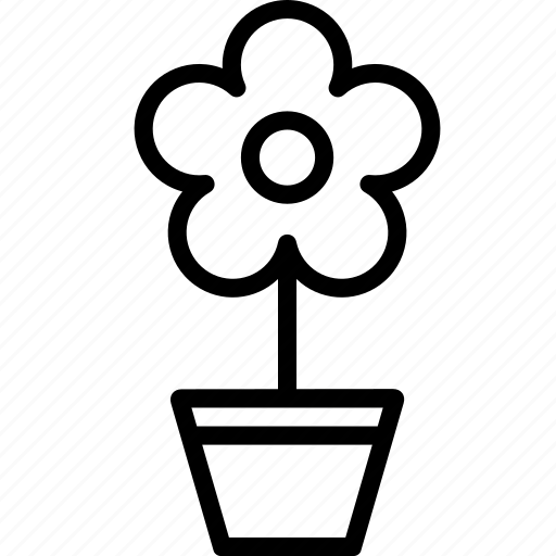 flower, flowerpot, garden, nature, plant, pot, tree icon