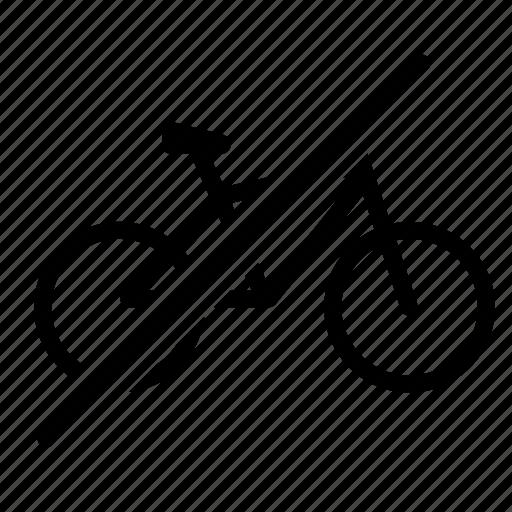 bicycle, bike, no, traffic, transport, vehicle, workout icon