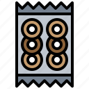 bagel, lunch, package, snack, snacks icon
