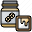 butter, container, food, jar, jars, peanut, shopping icon