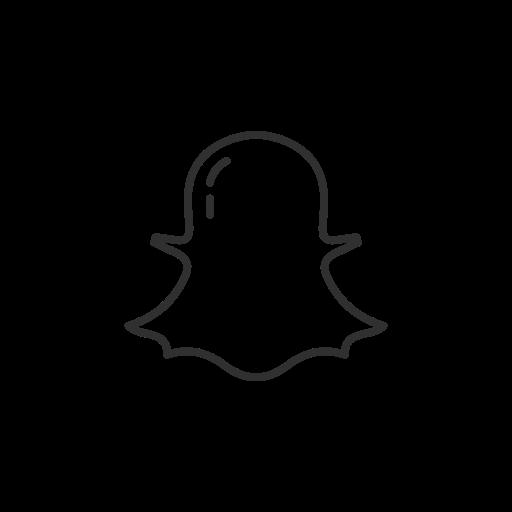 Snapchat icon black and white