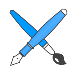 brush, pen icon