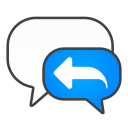 chat, reply icon