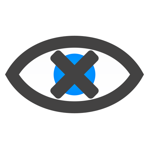 close, eye icon