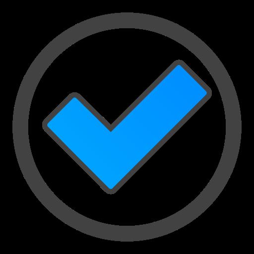 circle, ok icon
