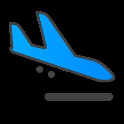 arrive, plane icon